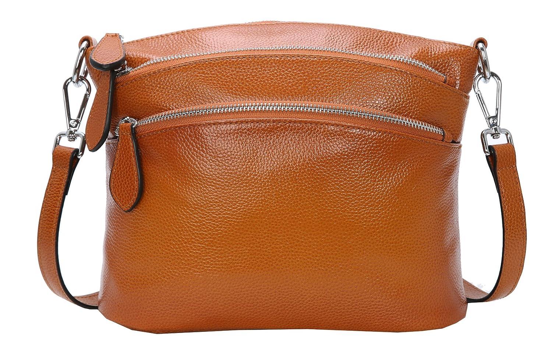 f3db4fd8b1b0 Heshe womens soft leather handbags shoulder bag multi zipper pocket small  bags designer handbag crossbody purse