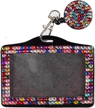 Quality Bling Lanyard Rhinestone Diamante Crystal Neck ID Card Teacher Gift