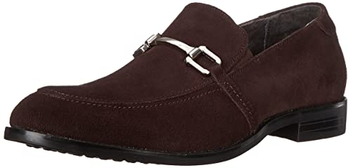 Mens Gulliver Slip-On Loafer, Brown Suede, 8 M US Stacy Adams