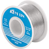 YI LIN 60/40 Solder Tin Lead Rosin Core Solder Wire For Electrical Soldering (100g/0.22lbs) (0.6mm/100g)