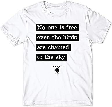 LaMAGLIERIA Camiseta Hombre Bob Dylan Bdy05 - Camiseta 100% algodón Rock: Amazon.es: Ropa y accesorios