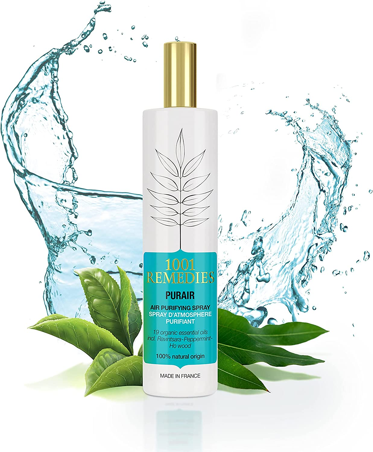 1001 Remedies Room Spray Air Freshener - 100% Natural Award Winning Pillow Mist, Purifying Fresh Room Deodorizer for Home with Eucalyptus & Lavender – for Bathroom, Linen Bedding, Made in France