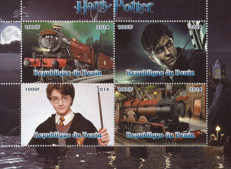Film Sammlerst/ücke gro/ße MNH Briefmarkenbogen zu 4 Marken//Benin Harry-Potter 2014