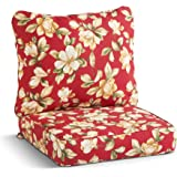 South Pine Porch AM7820-ROMAFLORAL Roma Floral 2-Piece Outdoor Deep Seat Cushion Set