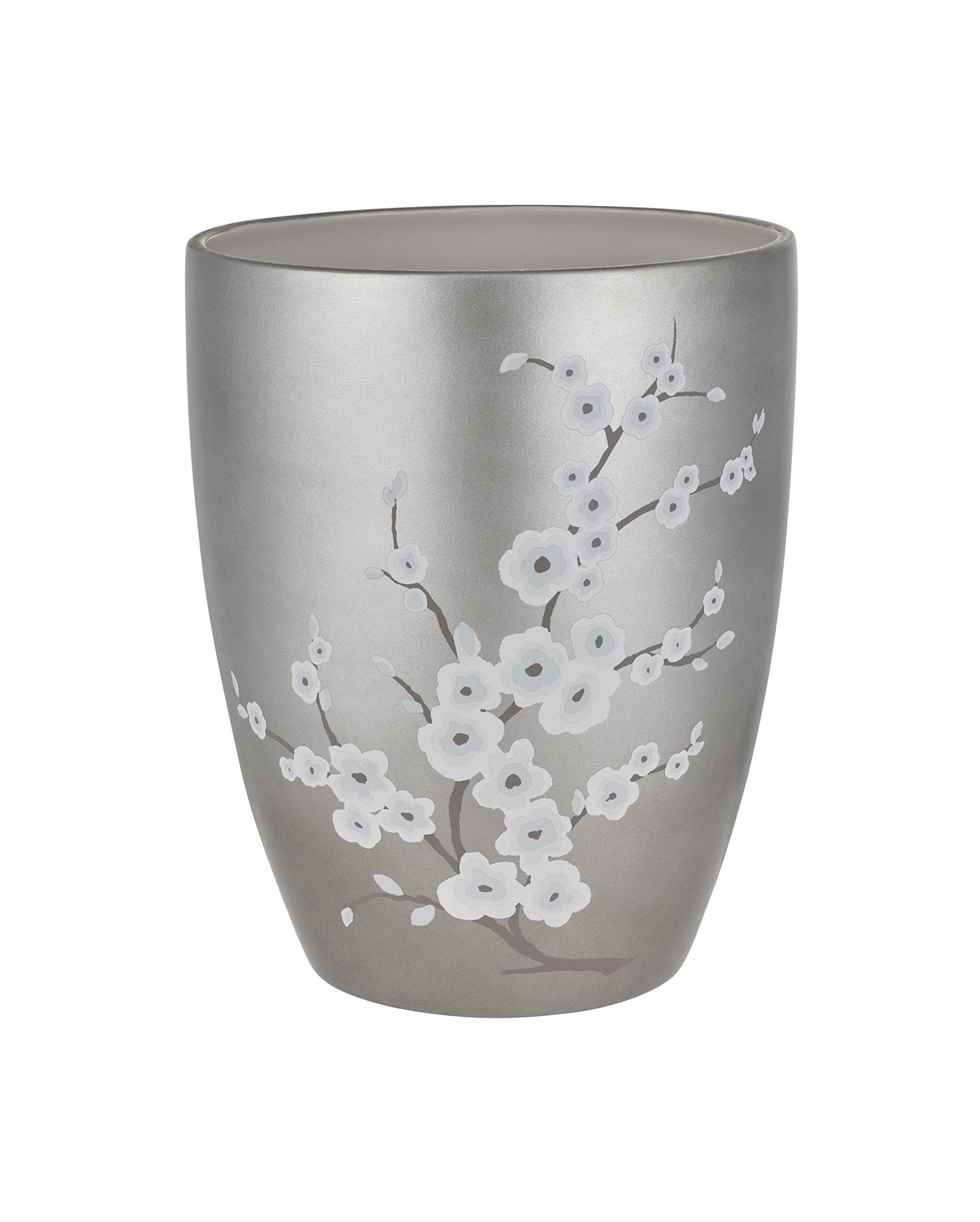Five Queens Court Mateo Cherry Blossom Luxury Stoneware Waste Bin Sea Foam
