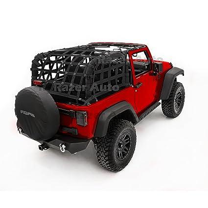 Razer Auto 2 Door Model Only Black Cargo Restraint Net System Trail Cargo  Net (Black