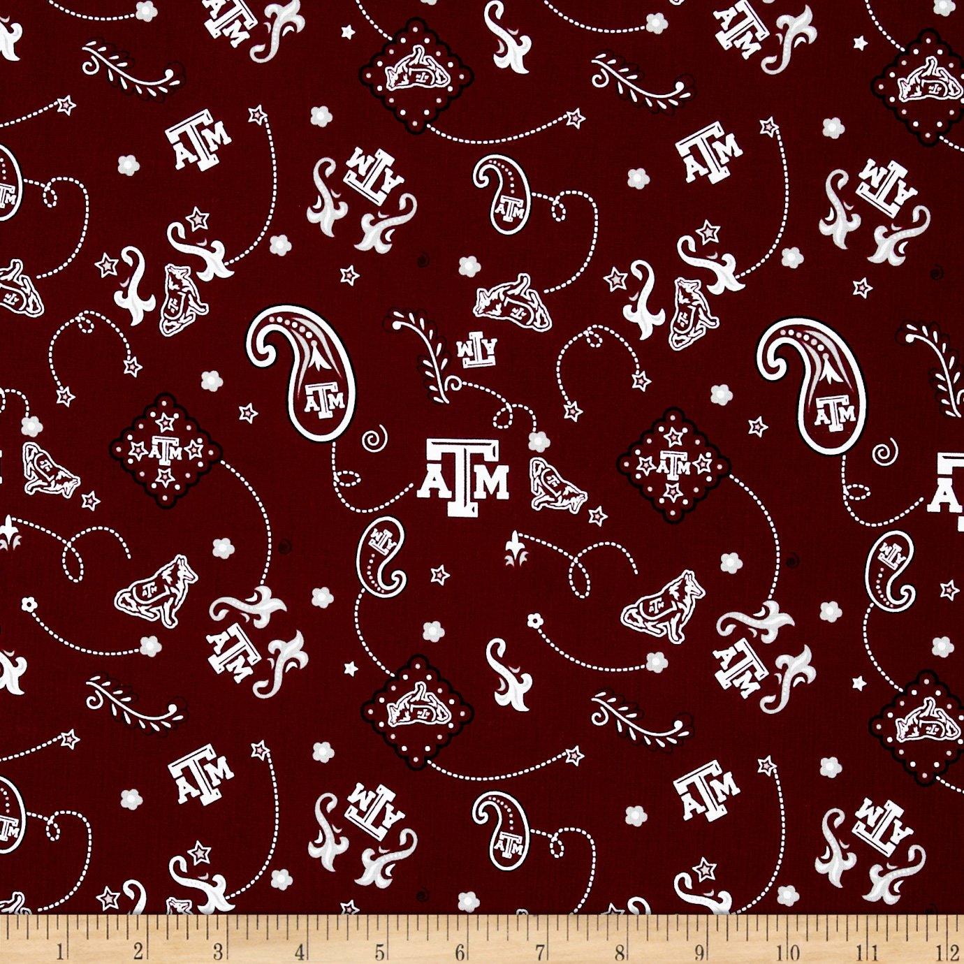 Collegiate Cotton Broadcloth Texas A&M Fabric by Sykel Enterprises   B00EQCVTYE