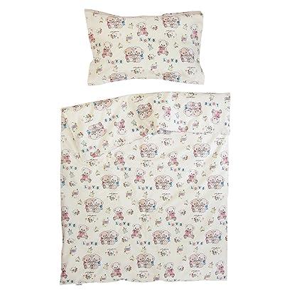 Ositos de peluche - Ropa de cama para minicuna, 100% Algodón (funda de