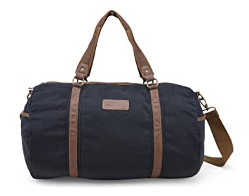 Gootium Canvas Travel Duffel Overnight Weekend Holdall Bag For Men ...