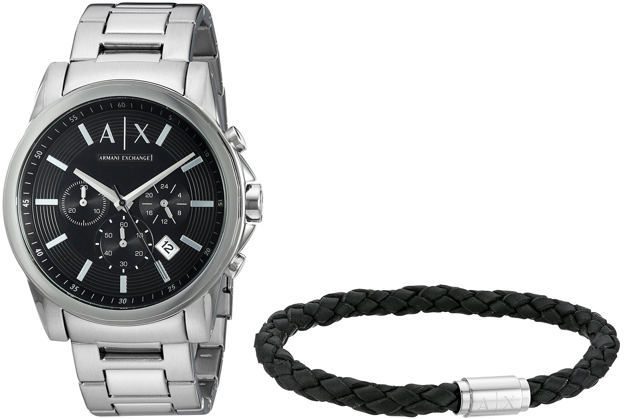 Armani Exchange Men's AX7100 Watch and Bracelet Gift Set