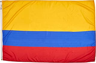 product image for Annin Flagmakers Model 191767 Colombia Flag Nylon SolarGuard NYL-Glo, 4x6 ft, 100% Made in USA to Official United Nations Design Specifications