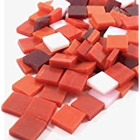 Sai Mosaic Art Stain Glass Mosaic Pcs, Red Assortment 10x10mm, 100Gm Pack, 145-150 Pcs