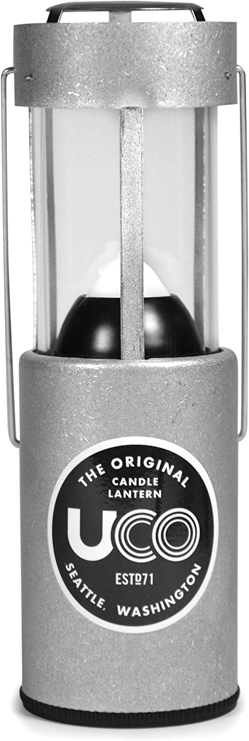 UCO Original Collapsible Candle Lantern, Tumbled Aluminum