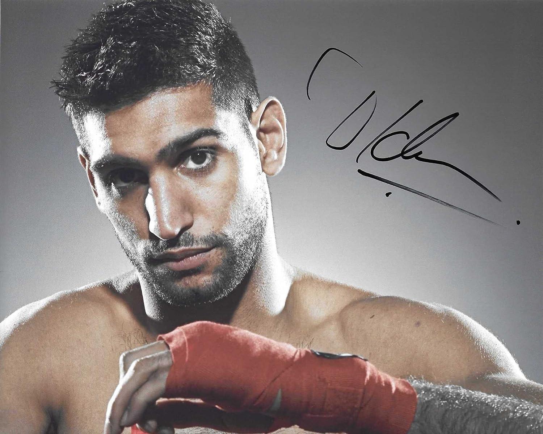 AMIR KHAN Signed Autograph Auto 8x10 Boxing Champion Picture Photo w//COA