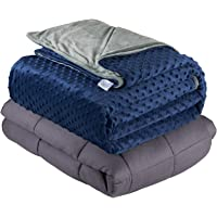Quility Premium Cotton 20 Lbs Adult Weighted Blanket With Removable Duvet Cover