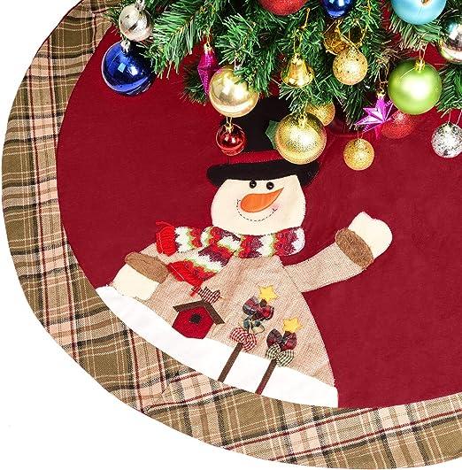 YQing 122cm Estera de Falda de árbol de Navidad, Falda Arbol de ...