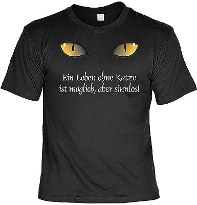 Ein Leben ohne Katzen Damen T-Shirt Fun Shirt Spruch Katze Geschenk Idee Frauen