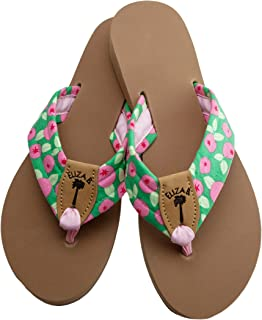 product image for Eliza B Greenberry Fabric Sandal on Almond Sole Size
