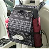 High Road Puff'nStuff Car Trash Bag and Seat Back Organizer with Tissue Holder (Baja)