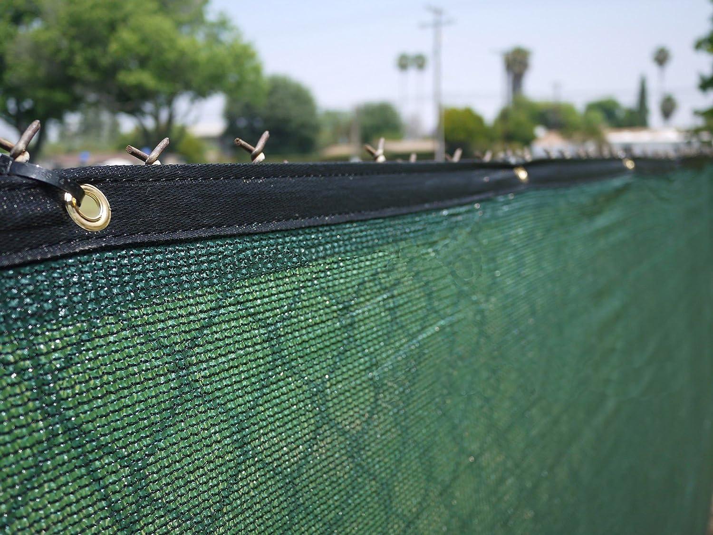 Amazon.com : Commercial Grade 6u0027 X 50u0027 Fence Wind Privacy Screen Mesh Brass  Grommets 6x50 : Garden U0026 Outdoor