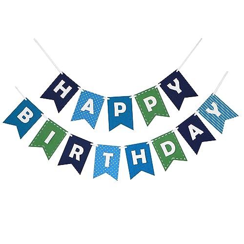blue birthday banner amazon com