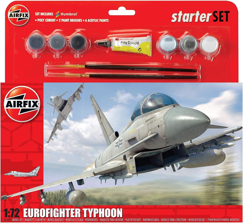 Airfix - Kit Grande con Pinturas, avión Eurofighter Typhoon (Hornby A50098): Amazon.es: Juguetes y juegos
