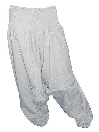 Sarouel pantalon homme femme 100% Coton Blanc
