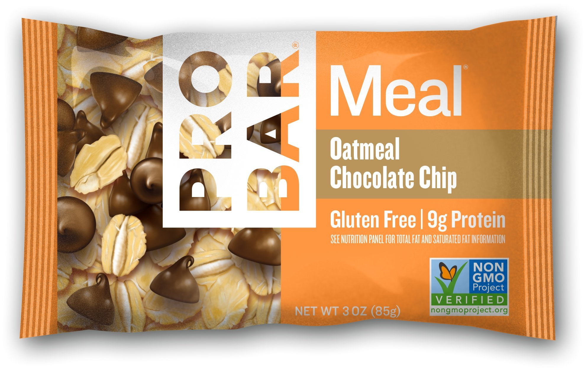 PROBAR - Meal Bar, Oatmeal Chocolate Chip, Non-GMO, Gluten-Free, Certified Organic, Healthy, Plant-Based Whole Food Ingredients, Natural Energy (12 Count) Packaging May Vary by Probar