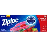 Ziploc Storage Bags with New Grip 'n Seal Technology, For Food, Sandwich, Organization and More, Gallon, 38 Count