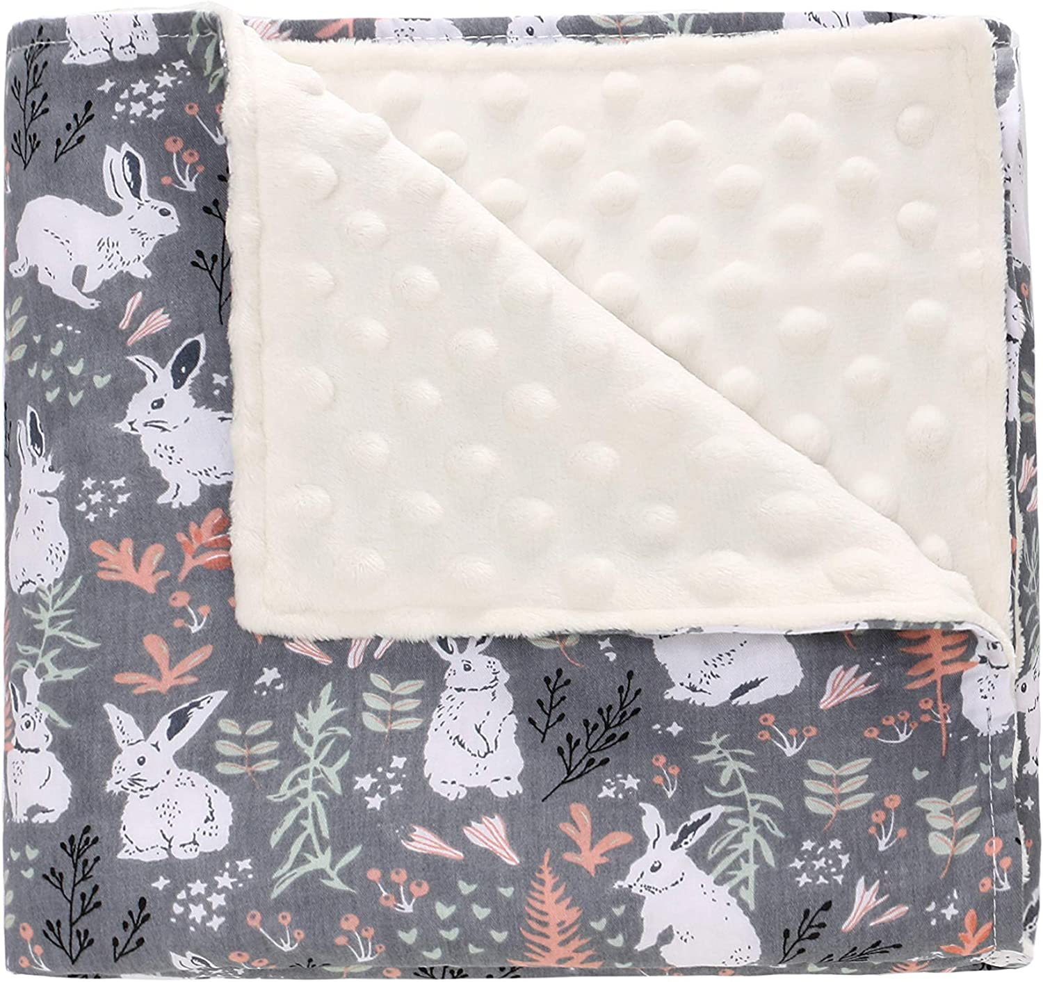 Bee Perfect Baby Shower Gift for Boys Girls Super Soft Minky Dot Baby Security Blanket Double Layer Dotted Backing Plush Toddler Baby Newborn Receiving Blankets 30x40