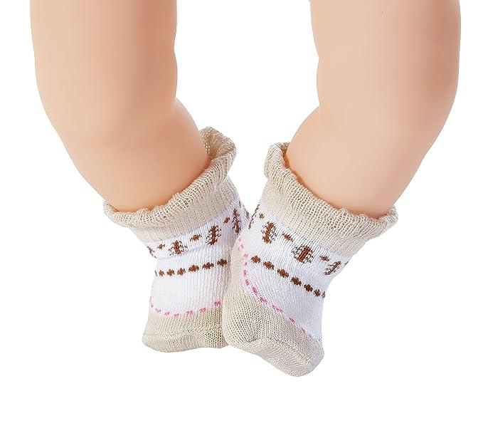 Vêtement pour Poupon 46 cm 1 Paire de Chaussettes Modèle Aléatoire Baby Annabell