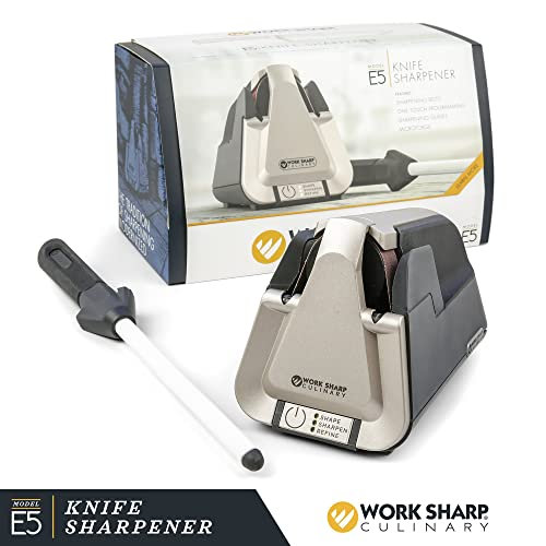 Work Sharp Culinary E5 Kitchen Knife Sharpener with Ceramic Honing Rod