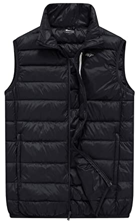 7525909aef2b Wantdo Men s Packable Travel Light Weight Insulated Down Puffer Vest ...