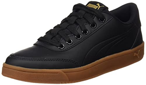Puma Court Breaker L Mono, Zapatillas Unisex Adulto, Negro (Puma Black-Puma Black-Metallic Gold), 47 EU