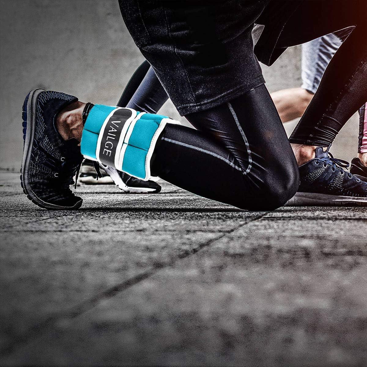3 kg per donna Polsino per caviglia peso regolabile peso per gambe 1,5 x 2 = 3 kg blu, 1,5 kg, 1,5 kg = ginnastica jogging 0,5 kg per fitness Vailge corsa uomo