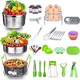 Accessories for Instant Pot 5/6/ 8 Qt, DUSASA 48 Pcs Pressure Cooker Accessories Set with 2 Steamer Baskets, Springform Pan,