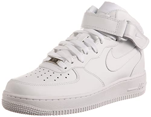low priced c09b6 7a1ed Nike Men s Air Force 1 Mid  07 Le Running Shoes, White, 5.5 UK