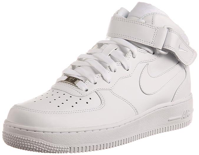 separation shoes c48c0 99aea Nike Air Force 1 Mid 07, Sneakers Hautes Homme, Blanc, 45.5 EU  Amazon.fr   Chaussures et Sacs