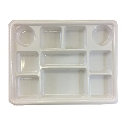 Movie Time Video 25 Piece Round Disposable Party Tray/Thali/Plates 10 Compartments  sc 1 st  Amazon.com : disposable thali plates - pezcame.com