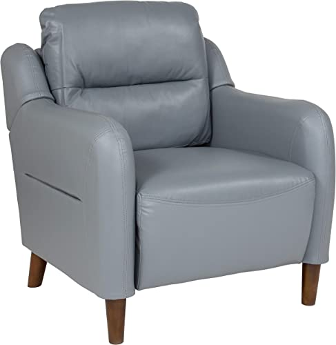 Flash Furniture Newton Hill Upholstered Bustle Back Arm Chair