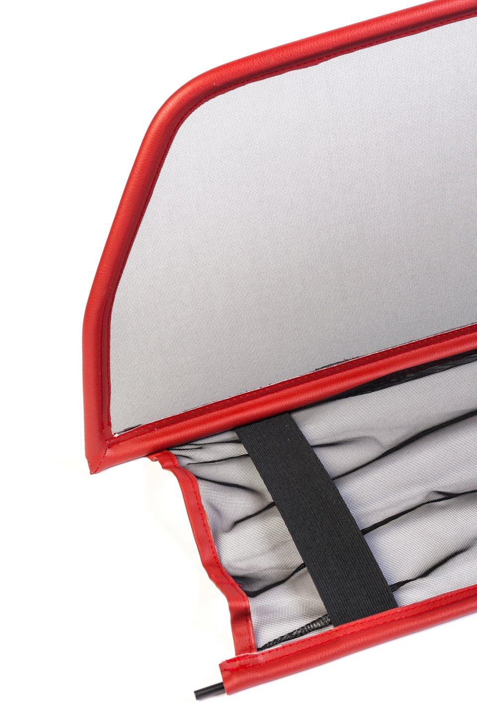 Parabrisas para descapotable Deflector de Aire - Plegable //- Rojo 1998-2003 TiefTech Deflector de Viento para Mercedes CLK W208 Descapotable Deflector de Viento