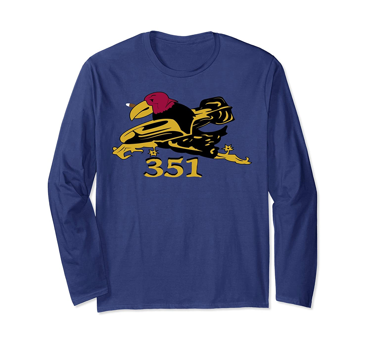 WWII 351st Bomb Group Squadron Patch Long Sleeve T-Shirt-Awarplus