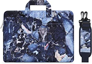 MOSISO Laptop Shoulder Bag Compatible with 13-13.3 inch MacBook Pro, MacBook Air, Notebook Computer, Canvas Rock Marble Carrying Briefcase Sleeve Case Cover