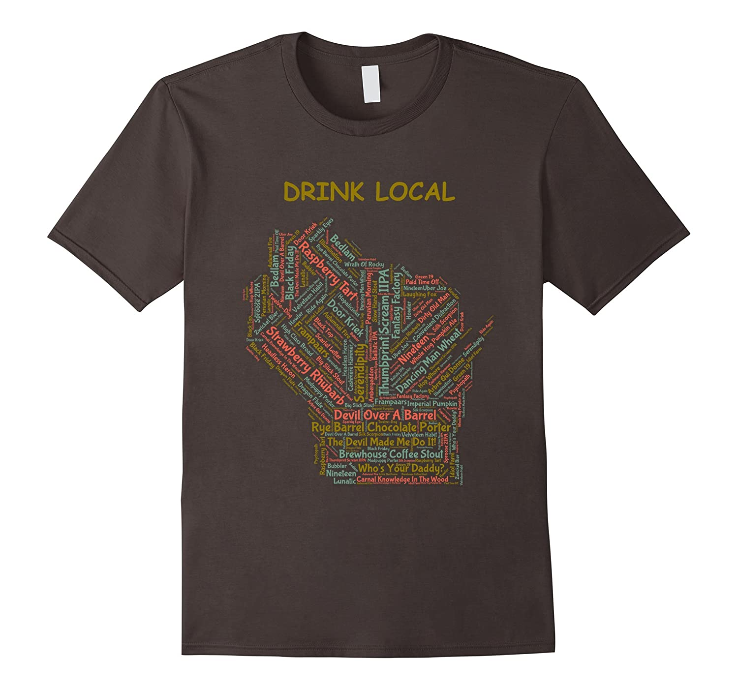 Wisconsin Drink Local Craft Beer T-Shirt-TH