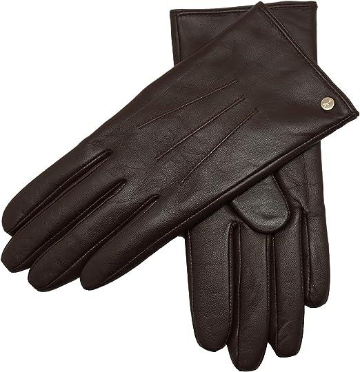 Damen Echt Leder Handschuhe Gefüttert Gr S 6,5  M 7 L  7,5  XL 8  XXL 8,5  //G.09