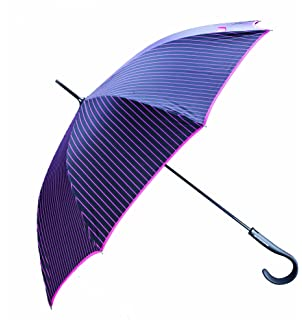 Paraguas automático de Antonio Miró, color negro y fucsia.