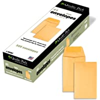 Quality Park Coin/Small Parts Envelope -Coin -#1 (2.25-Inch x3.50-Inch) -28 lb -Gummed -Kraft -500/Box -Brown Kraft…
