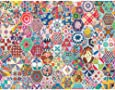 Springbok's 500 Piece Jigsaw Puzzle Crazy Quilts