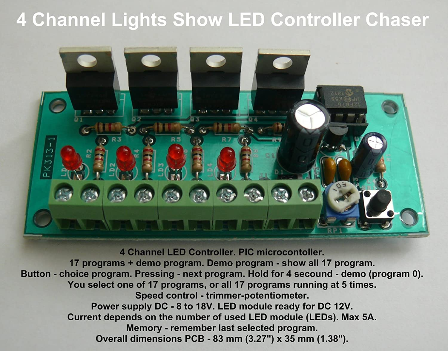 4 Channel Lights Show Led Controller Chaser Hk9984 Toys How To Make Mp3 Player At Home Using 555 Timer Cd4017 Games
