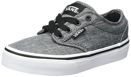 Vans Boys Atwood Trainers, Grey ((Rock Textile) Black/White Jet